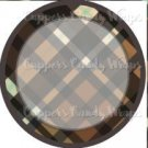 Brown Large Plaid Personalize it! ~ Cupcake Topper ~ Set of 1 Dozen