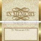 In Memory  ~ Standard 1.55 oz Candy Bar Wrapper  SOE 1 Dozen