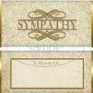 With Sympathy  ~ Standard 1.55 oz Candy Bar Wrapper  SOE 1 Dozen