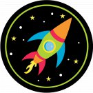 Rocket Thanks For Making My Birthday Out of This World ~ Cupcake Topper ~ Set of 1 Dozen