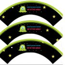 Space Monster Thanks For Making My Birthday Out of This World ~ Cupcake Wrappers ~ Set of 1 Dozen