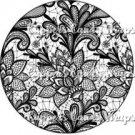 Black & White Floral Lace ~ Cupcake Topper ~ Set of 1 Dozen