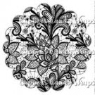 Black & White Floral Lace ~ Scalloped Cupcake Topper ~ Set of 1 Dozen