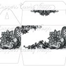 Black & White Floral Lace ~ Gable Gift or Snack Box Full Size