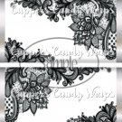 Black & White Floral Lace ~ Standard 1.55 oz Candy Bar Wrapper  SOE 1 Dozen