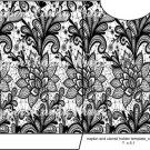 Black & White Floral Lace  ~ Utensil Holder ~ 1 Dozen