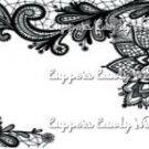 Black & White Floral Lace ~ Paper Napkin Rings ~ 1 Dozen