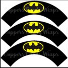 Black Batman Bat Signal Super Heroes ~ Cupcake Wrappers ~ Set of 1 Dozen