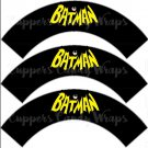 Black Batman Bat Logo Super Heroes ~ Cupcake Wrappers ~ Set of 1 Dozen