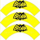 Yellow Batman Bat Logo Super Heroes ~ Cupcake Wrappers ~ Set of 1 Dozen