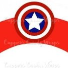 Red Captain America Shield Super Heroes ~ Cupcake Wrappers ~ Set of 1 Dozen