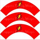 Flash Gordon Super Heroes ~ Cupcake Wrappers & Toppers Set ~ Set of 1 Dozen