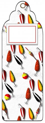 Candy Bar Gift Tag Sports Fishing Lures