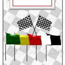 Candy Bar Gift Tag Sports Car Racing