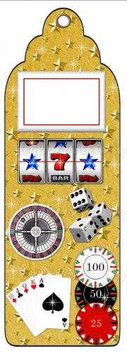 Candy Bar Gift Tag Sports Gambling Casino Cards Poker Chips Dice