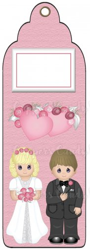 Candy Bar Gift Tag Wedding Bride & Groom