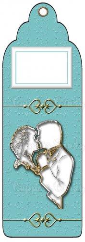 Candy Bar Gift Tag Wedding Metallic Silhouette