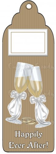 Candy Bar Gift Tag Wedding Happily Ever After