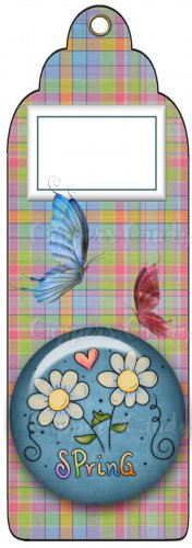 Candy Bar Gift Tag Spring Butterflies
