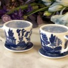 Blue Willow Cup & Saucer S&P