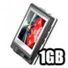 Palladium - 2 inch TFT LCD MP4 Player w/ Speaker 1GB - Black (Super Slim Design)