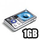 Mirage - MP4 Player 1.5 inch LCD Display with Speaker 1GB - Silver