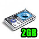 Mirage - MP4 Player 1.5 inch LCD Display with Speaker 2GB - Silver