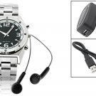 """Rock & Roll"" MP3 Quartz Wrist Watch 256MB (SDX-628) - Silver"
