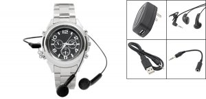 """Rock Roll"" MP3 Quartz Wristwatch 256MB (SDX-228) - Silver"