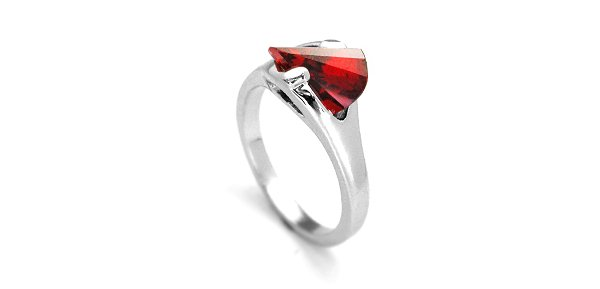 "Fashion Jewelry ""Silver Light"" Angel Blood Ring 005"