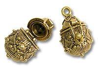 Prayer Box Drop Shaped 21x14mm Gold