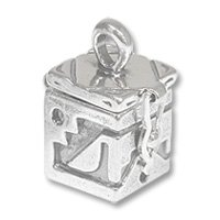 Sterling Silver Prayer Box - Southwest 21x12mm