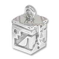 Sterling Silver Prayer Box - Southwest 21x12mm