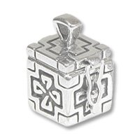 Sterling Silver Prayer Box - Celtic 20x13mm