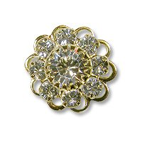 Swarovski Filigree 60860 Gold Plated Crystal/Crystal