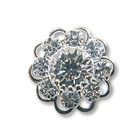 Swarovski Filigree 60860 Rhodium Plated Crystal/Crystal