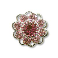 Swarovski Filigree 60860 Sterling Plated Light Rose/Rose