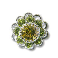 Swarovski Filigree 60860 Sterling Plated Olivine/Lime