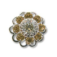 Swarovski Filigree 60860 SP Light Smoked Topaz/Golden Shadow