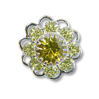 Swarovski Filigree 60860 Rhodium Plated Jonquil/Light Topaz
