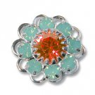Swarovski Filigree 60860 SterlingPlated PacificOpal/Padparadscha
