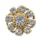 Swarovski Filigree 60870 Gold Plated Crystal/Crystal