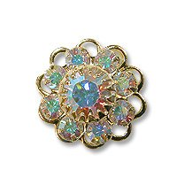 Swarovski Filigree 60870 Gold Plated Crystal AB/Crystal AB