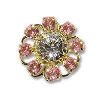Swarovski Filigree 60870 Gold Plated Light Rose/Crystal