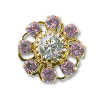 Swarovski Filigree 60870 Gold Plated Light Amethyst/Crystal
