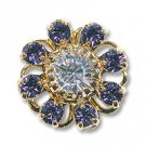Swarovski Filigree 60870 Gold Plated Tanzanite/Crystal