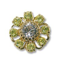 Swarovski Filigree 60870 Gold Plated Crystal Jonquil/Crystal