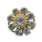 Swarovski Filigree 60870 Gold Plated Light Sapphire/Crystal