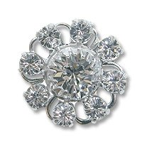 Swarovski Filigree 60870 Sterling Plated Crystal/Crystal
