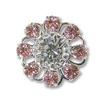Swarovski Filigree 60870 Rhodium Plated Light Rose/Crystal